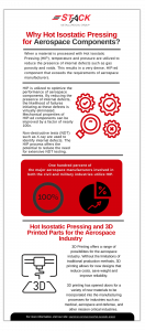 Stack Metallurgical Group Why Hot Isostatic Pressing for Aerospace Components? White Paper
